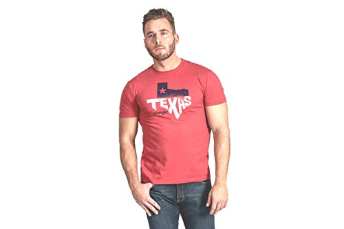 Wrangler Men's Rooted Collection Texas T-Shirt Large Red