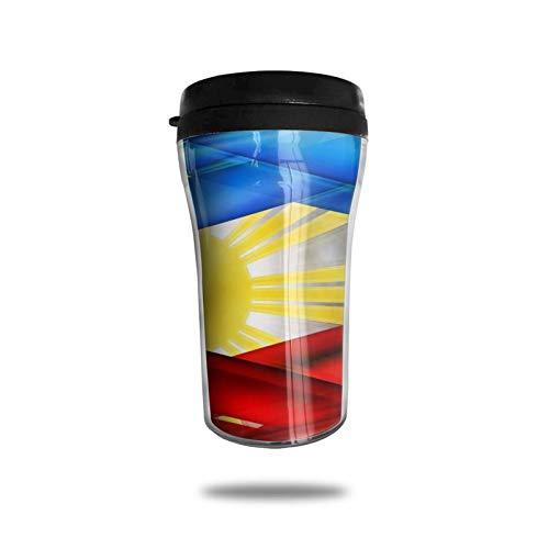 Taza de café de viaje con impresión 3D, taza de té, taza de agua aislada, taza de viaje para hombres, mujeres y niños, color creativo filipinos