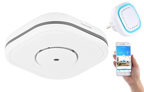 VisorTech CO Melder Smart Home: Funk-Warnsystem WMS-250.COG: WLAN-Gateway mit 1 Kohlenmonoxid-Melder (Kohlenmonoxid Melder Smart Home)