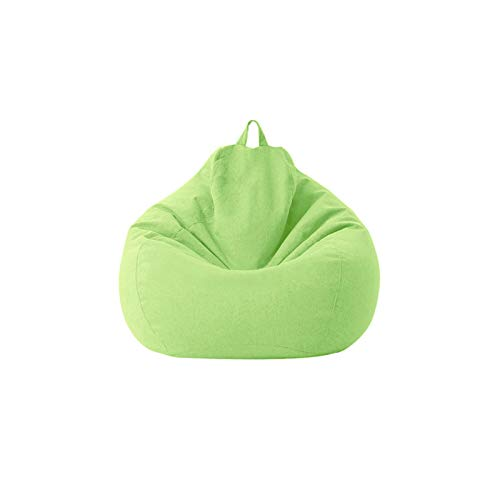 AUTUUCKEE Storage Soft Bean Bag Chair Cover Without Filling for Kids Adults, Lazy Sofa Beanbag Indoor Ourdoor Bedroom Garden(70x80cm Green)