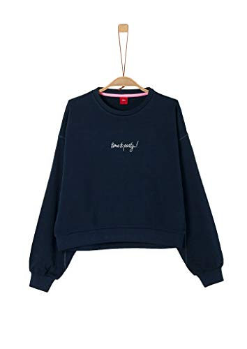 s.Oliver RED LABEL Mädchen Sweatshirt mit Statement-Wording night blue XL.REG