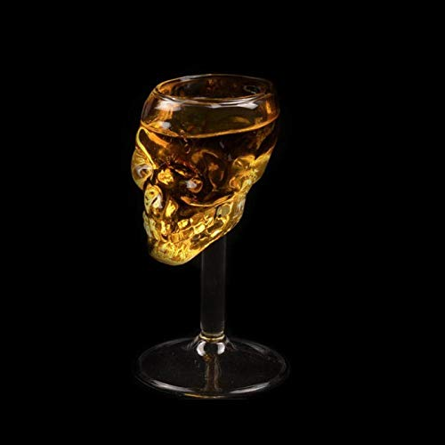 YYLSHCYHLI Copa de Vino 1 Uds, Copa de Cristal Transparente para Cerveza, Copa de Calavera, Vino Tinto, Accesorios de Cocina, Copa de cóctel