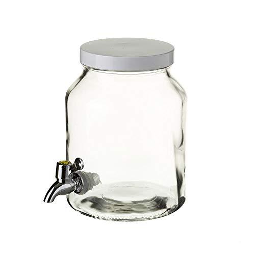 Dispensador de bebida de cristal transparente vintage para cocina Factory - LOLAhome