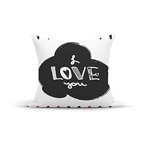 Funda de almohada decorativa vintage, póster dibujado a mano con caligrafía moderna y letras, marco de diseño infantil, fundas de almohada Fundas de cojín para interior y exterior para el hogar, sofá,