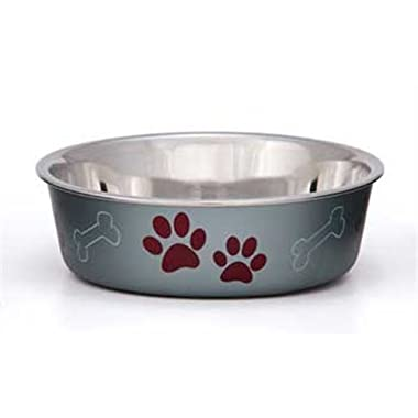 Loving Pets Metallic Bella Bowl, Extra Large, Blueberry