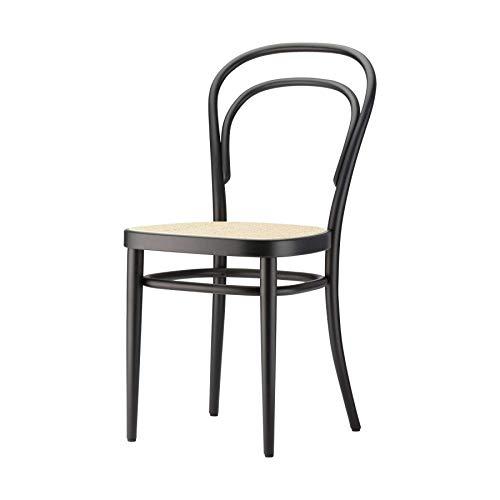 Thonet 214 Stuhl mit Wiener Geflecht 43 x 52 cm - schwarz