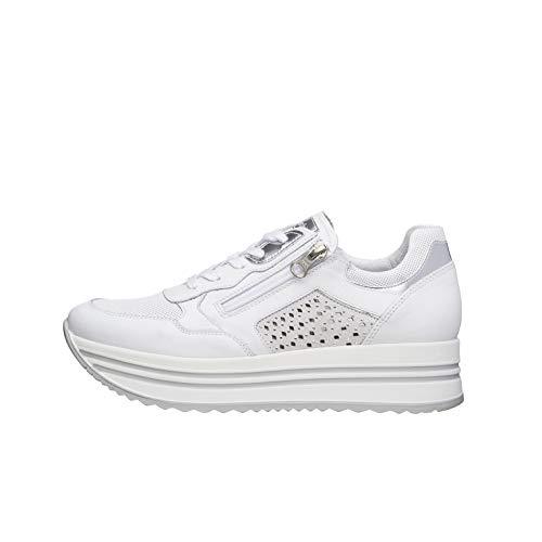 NeroGiardini E010563D Sneaker Mujer De Piel, Ante Y Tela
