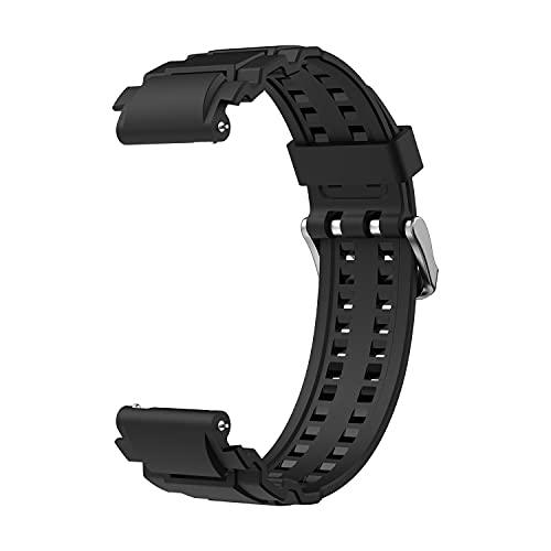 Pulseira SIKAI 22 mm TPU macia para Samsung Galaxy Watch 3 45 mm pulseira de substituição respirável 22 mm pulseira universal para TicWatch Pro 3/2020, para Galaxy Watch 46 mm, para Huawei Watch GT (preto)
