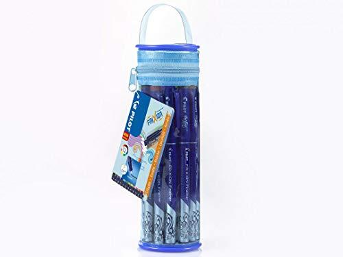 Trousse Pen Holder 12 Frixion - Couleurs assorties (noir, bleu, rouge, vert, vert clair, bleu clair, rose clair, orange, jaune, violet, marron)