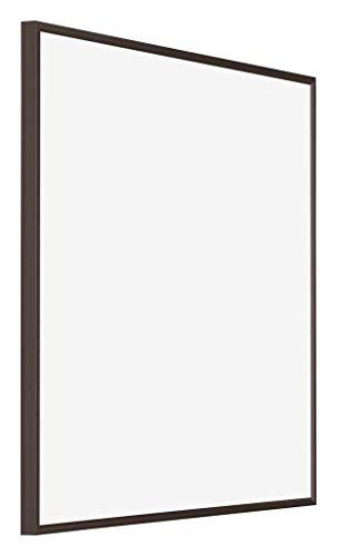 yd. - 60x60 cm - Bilderrahmen von Kunststoff mit Acrylglas - Ausgezeichneter Qualität - Antrazit - UV-beständige Glasplatte - Antireflex - Fotorahmen - Evry.