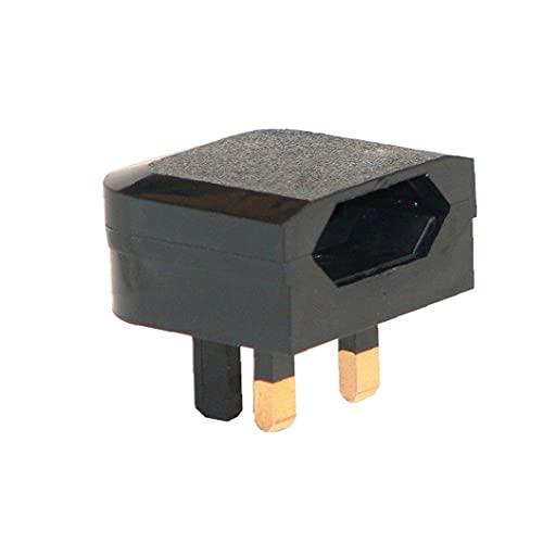 EURE EUROPEO 2 PIN A UK 3PIN Adaptador de enchufe al aire libre Adaptador de pared Converter Socket Black