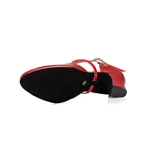 Meijili ,  Damen Tanzschuhe , rot – rot – Größe: 40 - 4