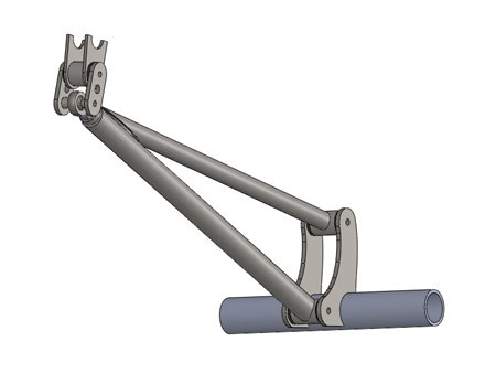 RuffStuff Specialties Ladder Bar and Anti Wrap Traction Bar Kits and Components (Single AntiWrap Kit 3 Foot Tube)