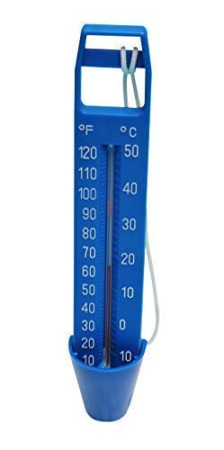 well2wellness® Poolthermometer Schwimmbad Thermometer Blau - 24 cm (024387)