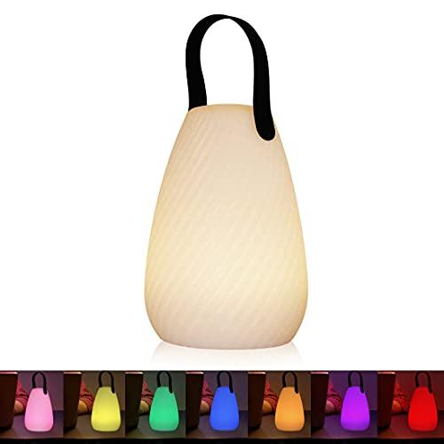 Akku Outdoor Lampe Tragbare Mehrfarbiges LED wiederaufladbare Tischleuchte Wasserdichtes kabelloses wiederaufladbares dimmbares Außen Tischleuchte (Köper)