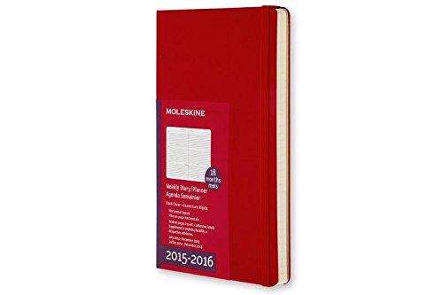 Moleskine 11412 - Agenda 18 meses, 2015-2016, semanal, tamaño bolsillo, color rojo escarlata (AGENDAS 18 MOIS)