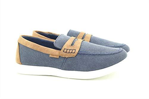 Dr Keller Jefrey Navy Soft Boat Canvas Deck Summer Shoes - Navy Textile, Mens UK 8 / EU 42