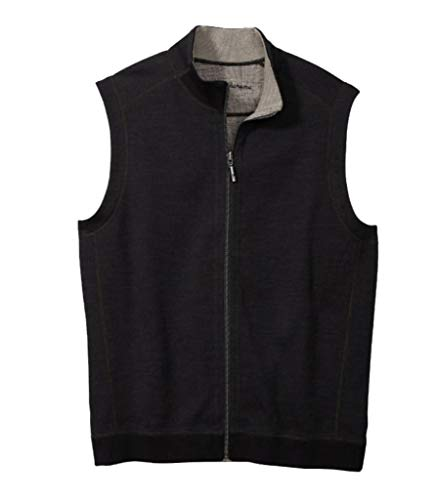 Tommy Bahama Men's New Flipsider Full-Zip Vest (Midnight Oil, XX-Large)