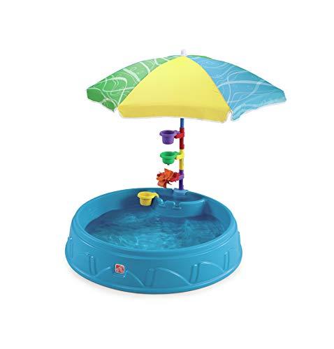Step2 Play and Shade pataugeoire avec Parasol et des Accessoires pour Enfants | Jouet Enfant à Eau pour le jardin