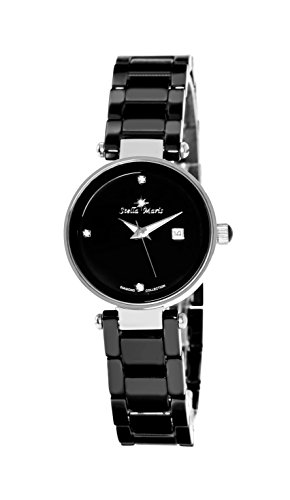 Stella Maris Damen Analog Quarz Uhr mit Keramik Armband STM17H6