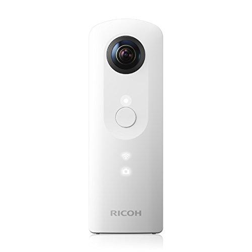 Ricoh Theta - Cámara 360º de 12 MP, color blanco