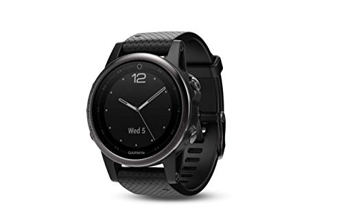 Garmin f?nix 5s, Premium and Rugged Smaller-Sized Multisport GPS Smartwatch, Silver/Black