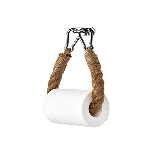 AMAZOM Portarrollos De Papel Higiénico De Cuerda, Portarrollos De Papel Higiénico De Cuerda Náutica Antiguo Industrial Toallero De Pared Baño Decoración De Baño