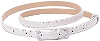 mikibana White Polyurethane Belt For Girls