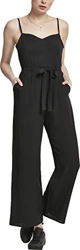 Urban Classics Damen Jumpsuit Ladies Spaghetti, Schwarz (Black 00007), X-Large (Herstellergröße: XL)