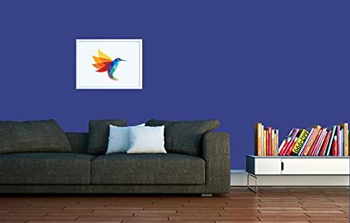 RyFo Colors Seidenlatex Trend Blautöne Royalblau 3l - bunte Innenfarbe, weitere Blau Farbtöne und Größen erhältlich, Deckkraft Klasse 1