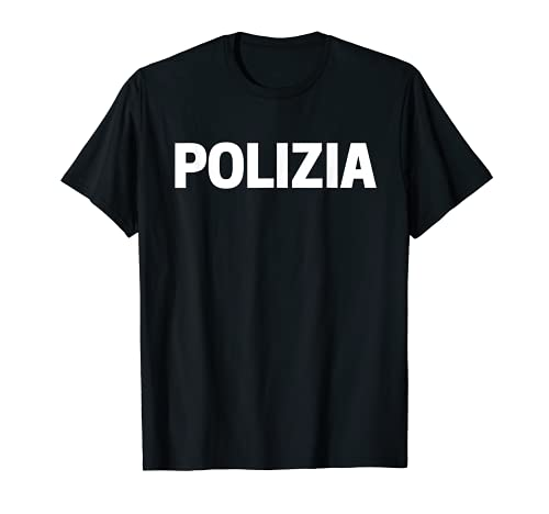 Uniforme della Polizia Di Stato Italiana Costume Regalo Maglietta