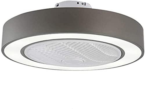 Ventiladores De Techo Con Luces Led 72W Moderna Ultra Regulable Con Control Remoto Gris