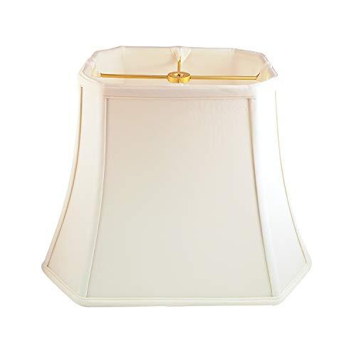 Royal Designs Rectangle Cut Corner Lamp Shade - Eggshell - (6 x 8) x (9 x 14) x 10.5