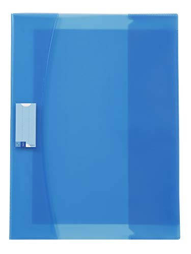 Viquel Strong Cover - Protège cahier 17x22 bleu en plastique bleu - Qualité supérieure - Dos renforcé - Avec rabats marque-pages