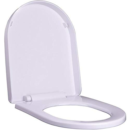 DJDL Toiletbril, toiletbril, slow mute, antibacteriële topinstallatie, verdikking, slow mute, toiletdeksel, U-vormige toiletdeksel