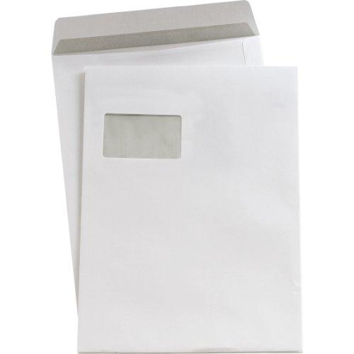 Preisvergleich Produktbild 5 Star(TM) Versandtaschen C4 sk weiß mit Fenster 90 g / qm Inh.250