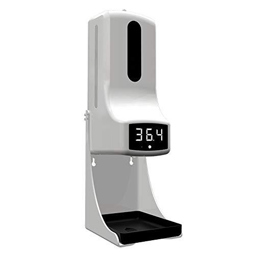 ZYC Nuevo Dispensador de jabón de Manos montado en la Pared con termómetro K9 Pro Máquina de desinfección con medición automática de Temperatura con Pantalla LCD de Alarma,K9 Pro