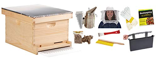 Little Giant 10-Frame Deluxe Beginner Hive Kit Premium Beekeeping Starter Kit for Beginners (Item No. HIVE10KIT)