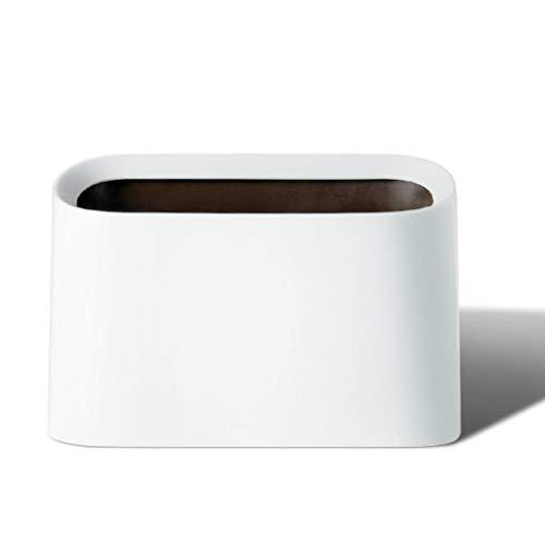 Bote de Basura Cama de Basura pequeña del Dormitorio del Dormitorio del Bote de Basura en la Caja de Almacenamiento del Bote de Basura Bote de Basura Humano Simple (Color : White)