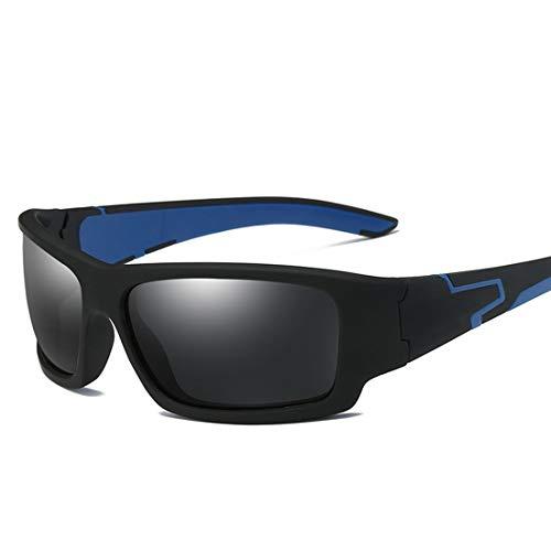 MIMIOOORE Deportes Gafas de Sol polarizadas protección UV400 Hombres de conducción Ciclismo Pesca Correr (Color : Blue)