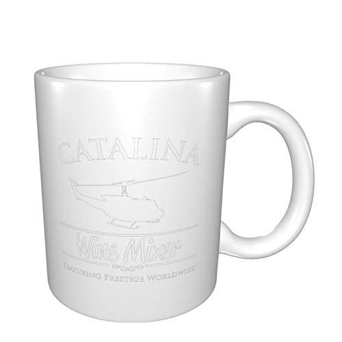 Rael Esthe iscelatore per Vino Bianco Catalina Prestige Tazza da tè in Ceramica Stampata in Tutto Il Mondo su Due Lati Acqua tè Bevande Tazza Calda e Fredda