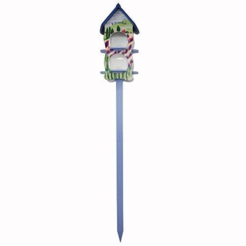 Habau 3131 Futterhaus Lavendel mit 2 Silos und Ständer - 2