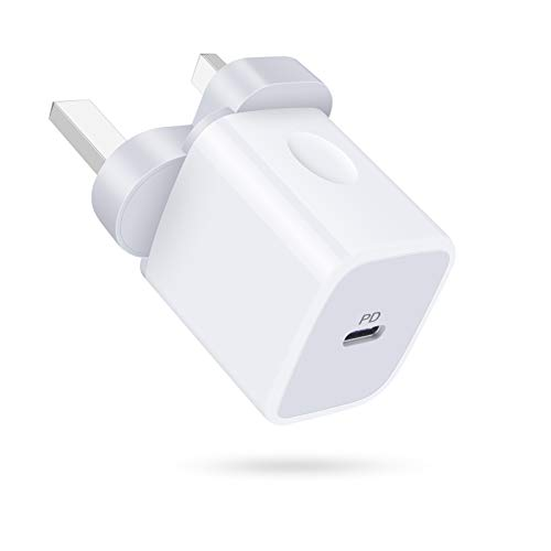 USB C Charger, AILKIN 18W Type C PD USB Plug Charger Fast Charging, Wall Charger Power Adapter Compatible with iPhone 12 Mini 11 Pro X XR XS Max 8 Plus, iPad Pro/Air, Samsung Galaxy S20/S10, LG