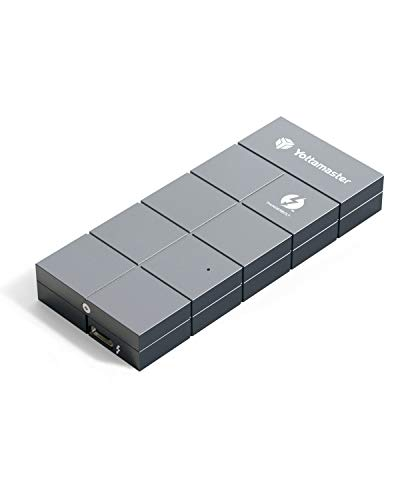 Yottamaster Thunderbolt 3 (40Gbps) M.2 NVMe SSD Gehäuse,PCI-E 3.0 X4 auf TB3 M.2 Adapter NVMe Gehäuse für 2280 M-Key NVMe SSD(M.2 SSD ist Nicht drin)