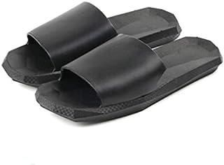 Lightweight Mens Slide Sandals Summer Flip Flop Sandals Slip Resistant Bath Shower Footwear (Color : Black, Shoe Size : 39)