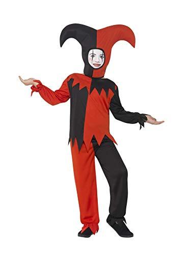 Smiffys 45483M - Kinder Jungen Twisted Narren Kostüm, Oberteil, Hose und Hut, Alter: 7-9 Jahre, mehrfarbig