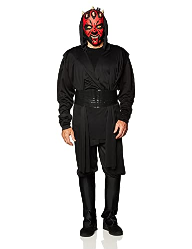 Star Wars Deluxe Adult Darth Maul Costume,Black,Large