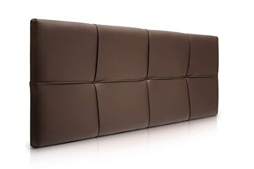 SUENOSZZZ-ESPECIALISTAS DEL DESCANSO Cabecero de Cama Square tapizado en Polipiel para Camas de 90 (100 x 57 cm) Polipiel Chocolate