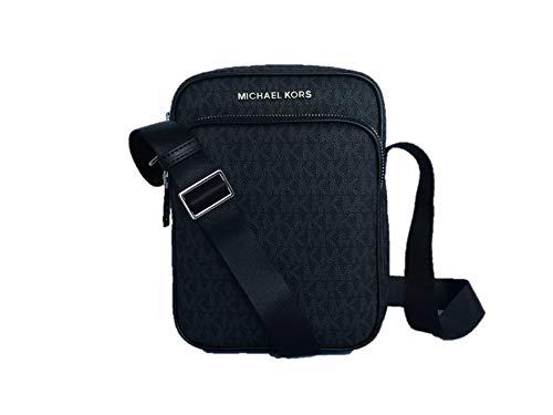 Michael Kors Jet Set Travel Signature PVC Medium Flight Bag Crossbody - Black