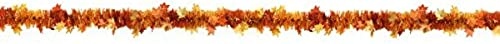estilo clásico Amscan Welcome Fall Thanksgiving Party Crinkle Foil Foil Foil Tinsel Garland Decoration (1 Piece), naranja, 15' by Party America  ganancia cero